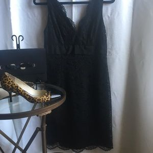 Maggy London sleeveless lace LBD